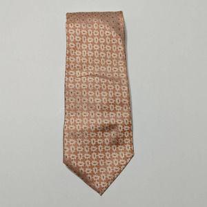 ISAIA Napoli Orange Floral Silk Necktie